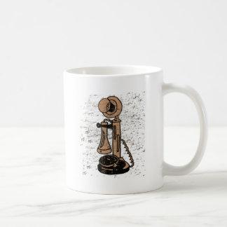 Teléfono vertical del estilo retro del Grunge de Taza De Café