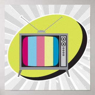 televisión retra de la TV Póster