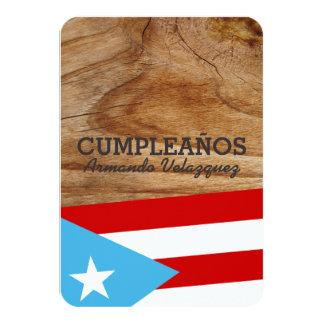Tema Bandera Azul Celeste Puerto Rico Invitación 8,9 X 12,7 Cm