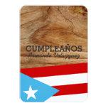 Tema: Bandera Azul Celeste: Puerto Rico Invitación 8,9 X 12,7 Cm