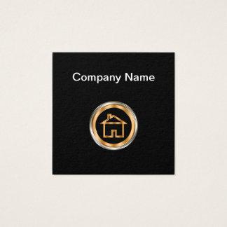 Tema con clase de las propiedades inmobiliarias tarjeta de visita cuadrada