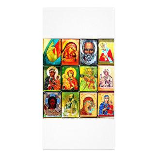 Tema cristiano Photocard religioso Tarjeta Personal