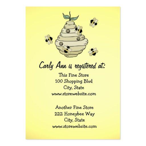 Tema de la abeja de la tarjeta del registro de la  tarjetas de visita