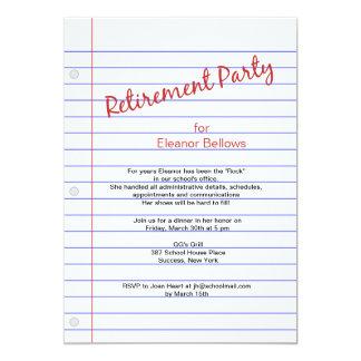 Tema de la escuela del fiesta de retiro comunicados personales