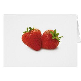 tema de la fresa tarjeta