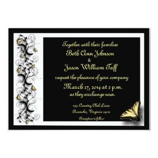 Tema de la mariposa invitación 12,7 x 17,8 cm