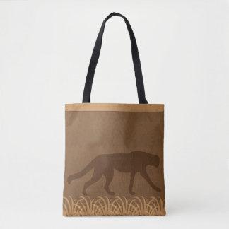Tema de la selva del safari el | del guepardo el | bolso de tela