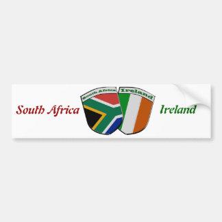 Tema de las banderas de la amistad de Suráfrica y  Etiqueta De Parachoque