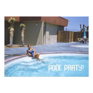 Tema de los años 50 de la fiesta en la piscina anuncio personalizado