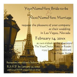 Tema de París de la torre Eiffel de Las Vegas Invitación 13,3 Cm X 13,3cm