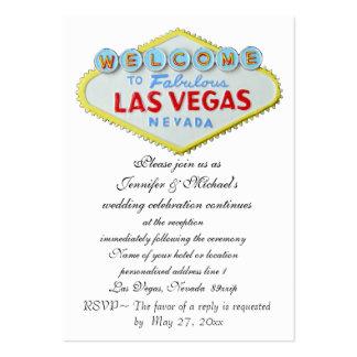 Tema de Vegas del recinto de la recepción nupcial Tarjetas De Visita Grandes