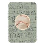 Tema del béisbol de la tarjeta de Mitzvah RSVP del Invitación 8,9 X 12,7 Cm