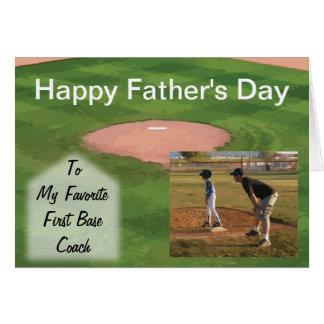 Tema del béisbol de la tarjeta del día de padre