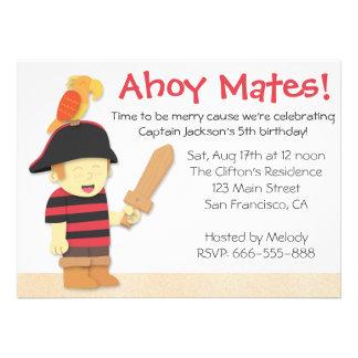 Tema del cumpleaños del pirata Muchacho del pirat Anuncio