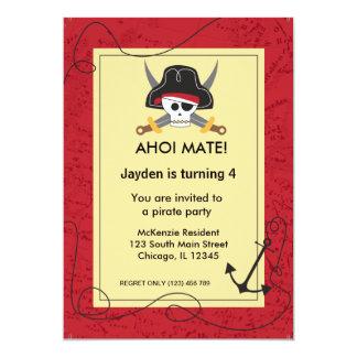 Tema del pirata invitación 12,7 x 17,8 cm
