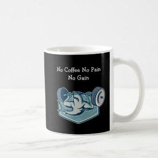Tema divertido de la aptitud del entrenamiento taza de café