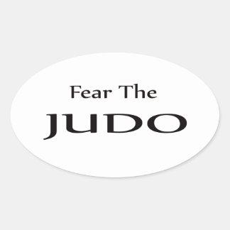 Tema el judo calcomanía óval