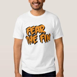 Tema el logotipo de la aleta (el naranja) camiseta