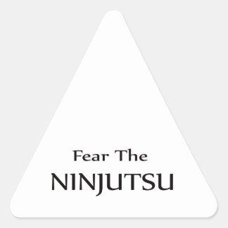 Tema el Ninjutsu. Pegatina Trianguloada