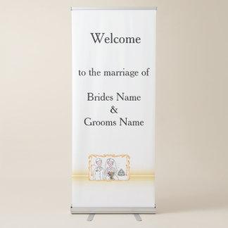 Tema escocés y céltico tradicional del boda pancartas retráctiles