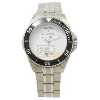 Tema escocés y céltico tradicional del boda reloj de pulsera