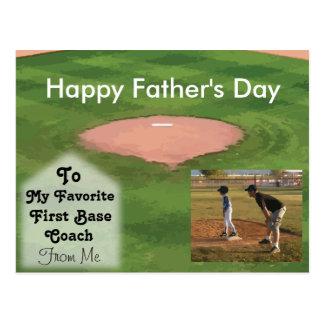Tema feliz del béisbol de la tarjeta del día de postal