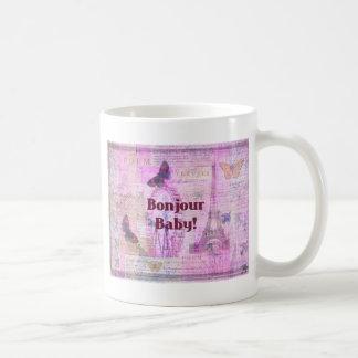 Tema francés de París de la frase del bebé de Taza De Café