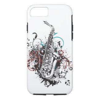 Tema fresco del saxofón de la música de jazz funda iPhone 7