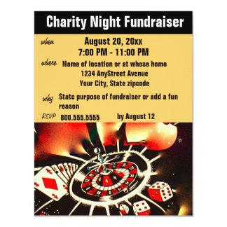 Tema Fundraising del casino del acontecimiento Invitación 10,8 X 13,9 Cm