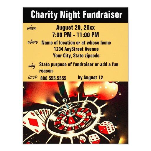 Tema Fundraising del casino del acontecimiento Anuncio Personalizado