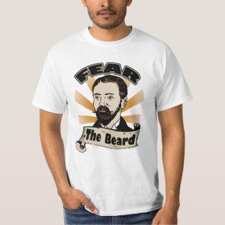 Tema la barba, bigote divertido camiseta