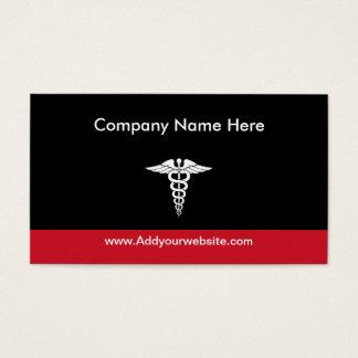 Tema médico tarjeta de negocios