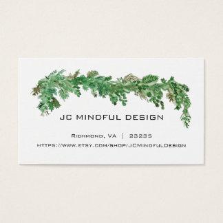 Tema mínimo del verdor de la tarjeta de visita