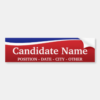 ¡Tema político - modifique a esta pegatina para el