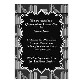 Tema Quinceanera de los libros Invitación 12,7 X 17,8 Cm