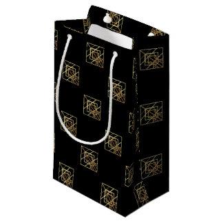 Tema retro del oro bolsa de regalo pequeña
