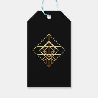 Tema retro del oro etiquetas para regalos