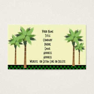 Tema tropical de encargo de la playa del océano de tarjeta de visita