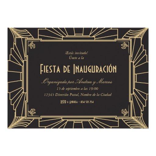 Temática de Invitación fiesta 1920 de inauguración
