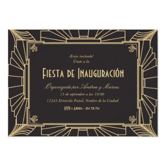 Temática de Invitación fiesta 1920 de inauguración Invitación 12,7 X 17,8 Cm