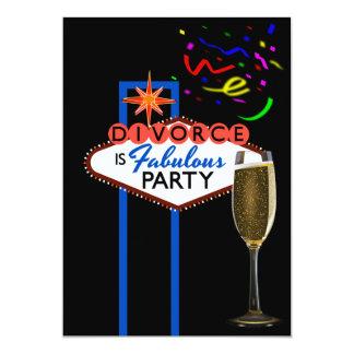 Temático de Las Vegas del fiesta del divorcio Invitación 12,7 X 17,8 Cm
