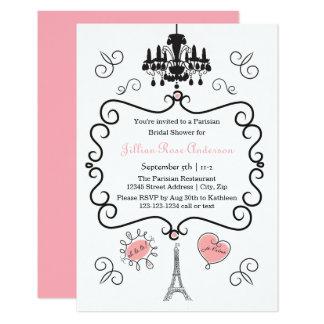Temático parisiense - invitación nupcial de la