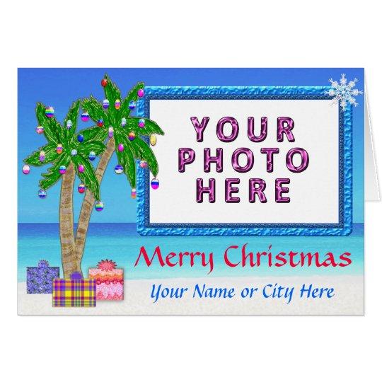 """Temático tropical """"añade tarjetas de Navidad de"""