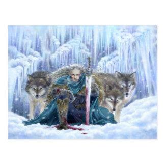 Tempestad de la postal de la fantasía del hielo