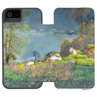 Tempestad de truenos de la primavera funda cartera para iPhone 5 watson