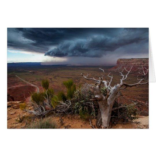 Tempestad de truenos de Moki Dugway - Utah Tarjeta De Felicitación
