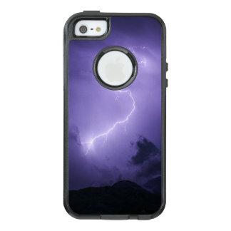 Tempestad de truenos púrpura en la noche funda otterbox para iPhone 5/5s/SE