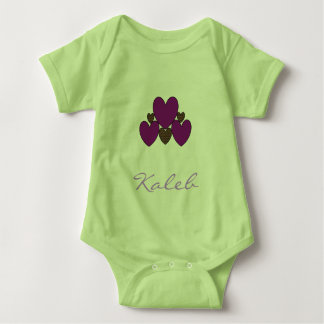 """Template_Design"" - Multi-Colors_Hearts_Name_ Body Para Bebé"