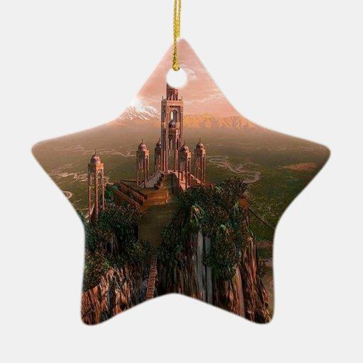 Templo abstracto de la ciudad de la luz ornamento para reyes magos