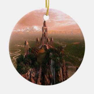 Templo abstracto de la ciudad de la luz adorno para reyes
